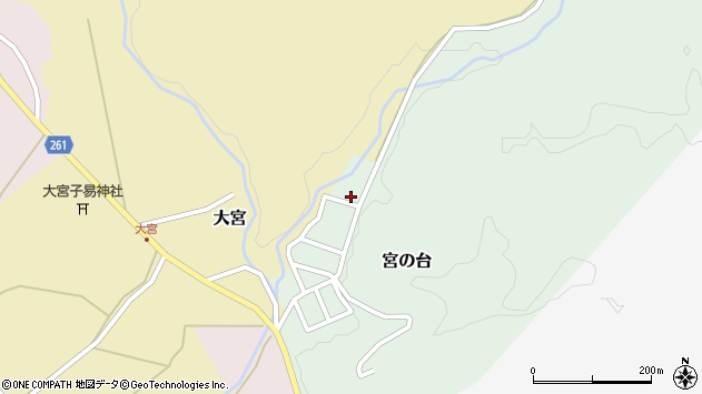 山形県西置賜郡小国町宮の台54周辺の地図