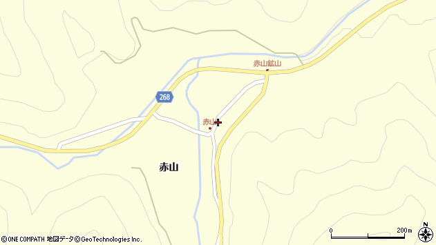 山形県上山市楢下赤山1411周辺の地図