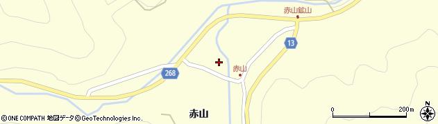 山形県上山市楢下赤山裏周辺の地図