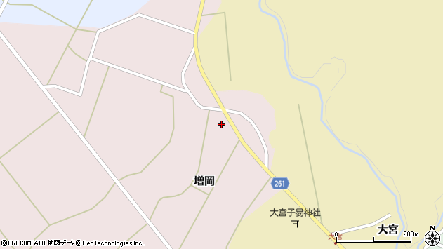 山形県西置賜郡小国町増岡555周辺の地図