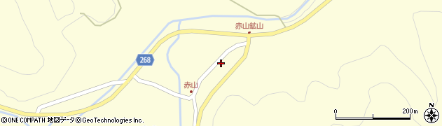 山形県上山市楢下赤山1405周辺の地図