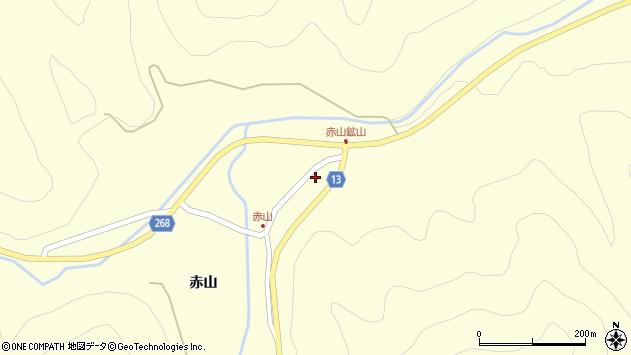 山形県上山市楢下赤山1412周辺の地図