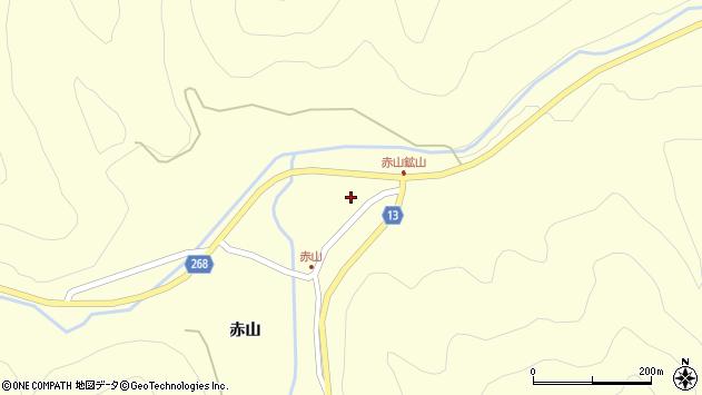 山形県上山市楢下赤山1400周辺の地図
