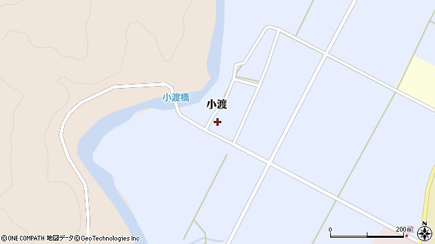 山形県西置賜郡小国町小渡288周辺の地図