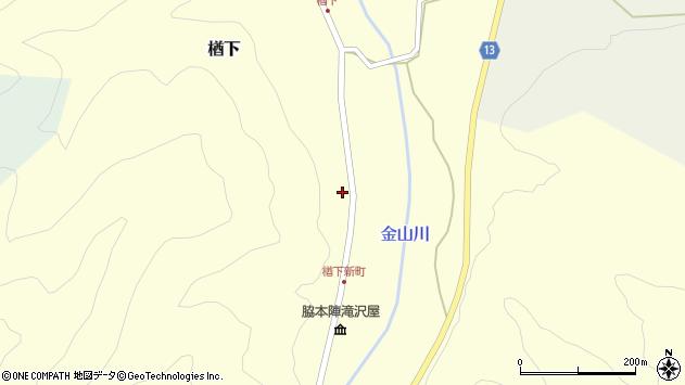山形県上山市楢下143周辺の地図