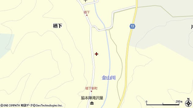 山形県上山市楢下1290周辺の地図