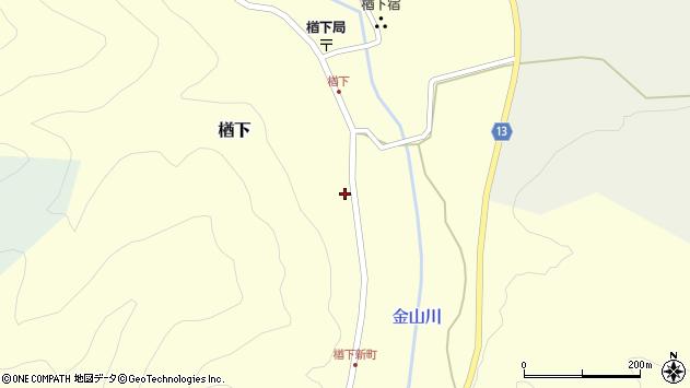 山形県上山市楢下1264周辺の地図