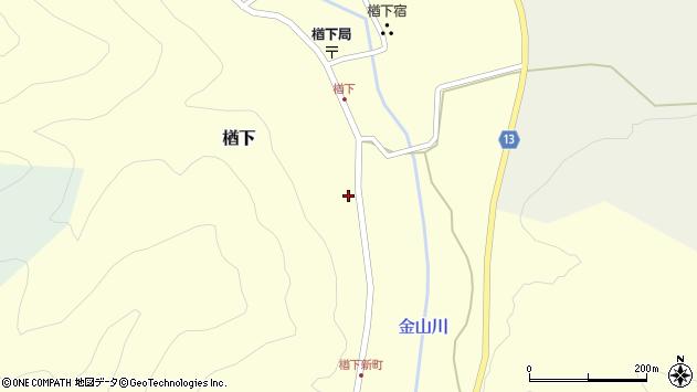 山形県上山市楢下64周辺の地図