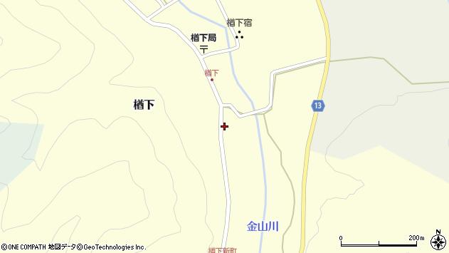 山形県上山市楢下1266周辺の地図