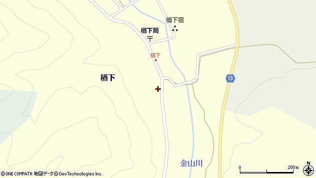 山形県上山市楢下1259周辺の地図