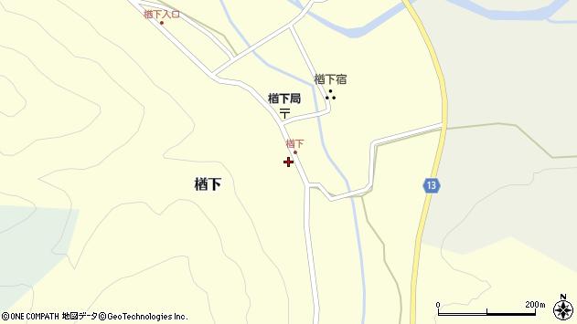 山形県上山市楢下5周辺の地図