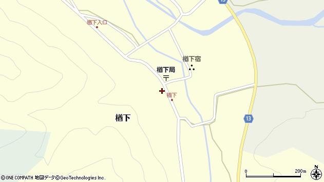 山形県上山市楢下11周辺の地図