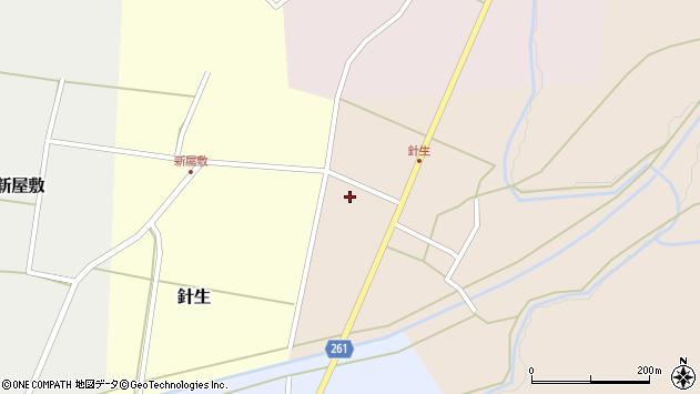 山形県西置賜郡小国町若山116周辺の地図