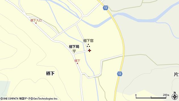 山形県上山市楢下21周辺の地図
