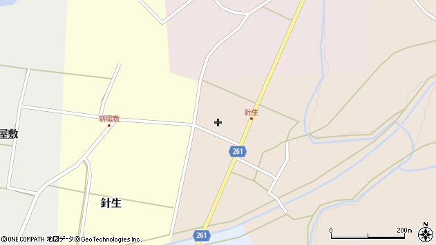 山形県西置賜郡小国町若山118周辺の地図