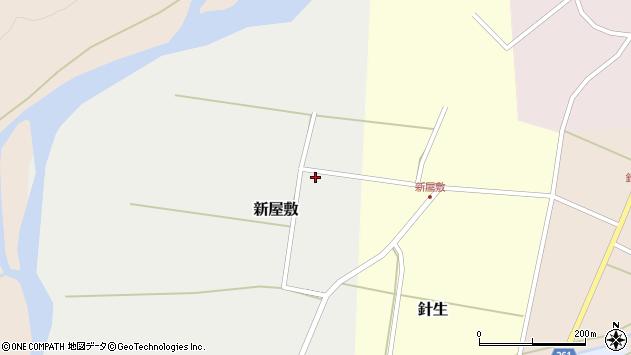 山形県西置賜郡小国町新屋敷周辺の地図