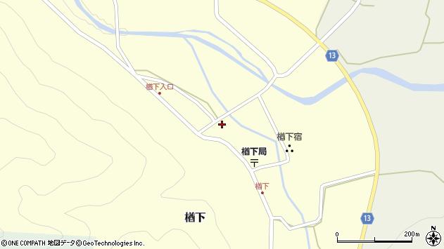 山形県上山市楢下56周辺の地図