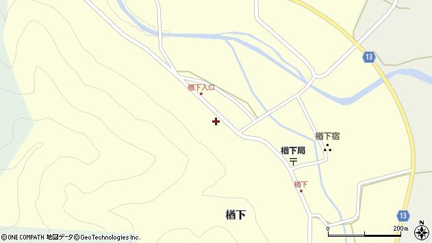 山形県上山市楢下74周辺の地図