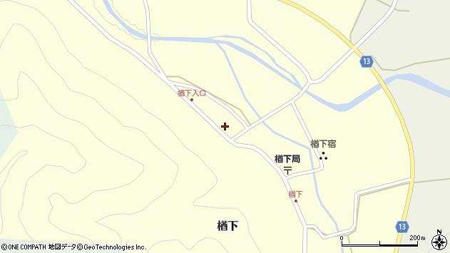 山形県上山市楢下70周辺の地図