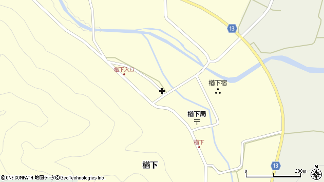 山形県上山市楢下57周辺の地図