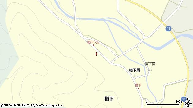 山形県上山市楢下79周辺の地図