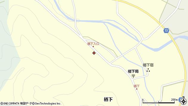 山形県上山市楢下84周辺の地図