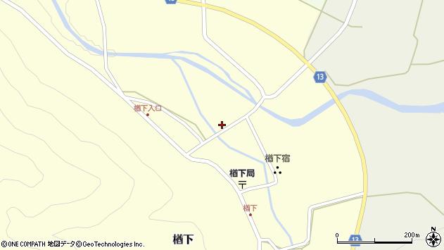 山形県上山市楢下50周辺の地図