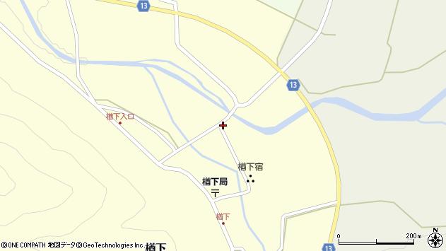 山形県上山市楢下34周辺の地図