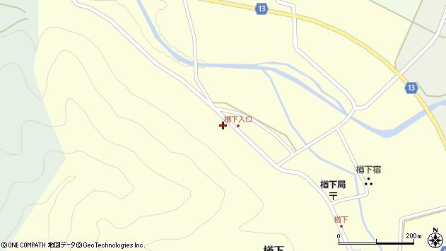 山形県上山市楢下91周辺の地図
