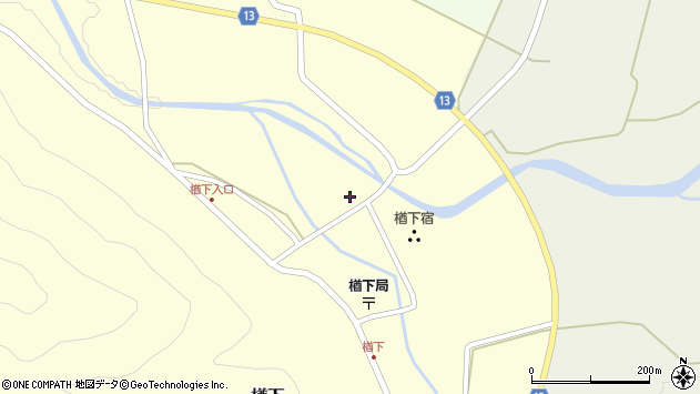 山形県上山市楢下40周辺の地図