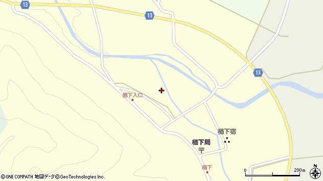 山形県上山市楢下118周辺の地図