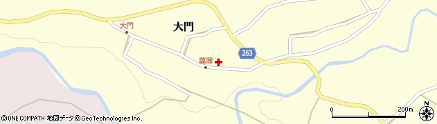 山形県上山市菖蒲12周辺の地図
