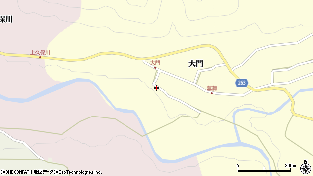 山形県上山市大門44周辺の地図