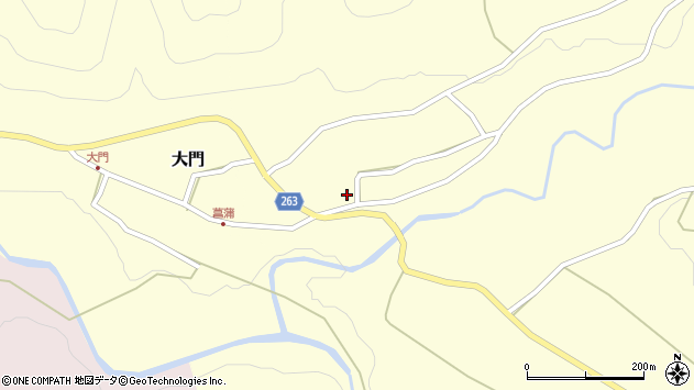 山形県上山市菖蒲45周辺の地図