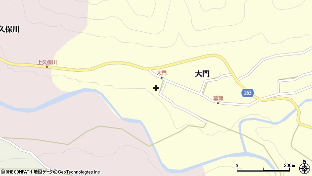 山形県上山市大門8周辺の地図