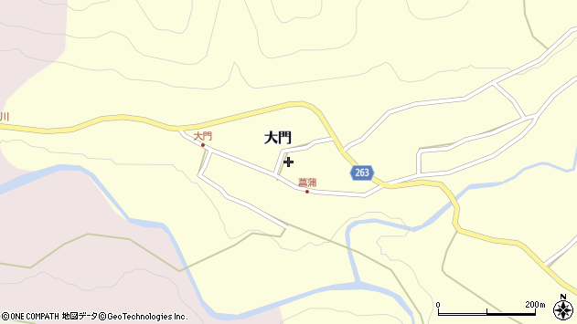 山形県上山市大門85周辺の地図