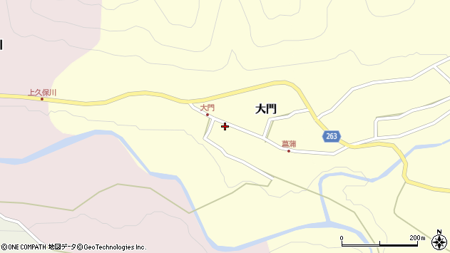 山形県上山市大門38周辺の地図