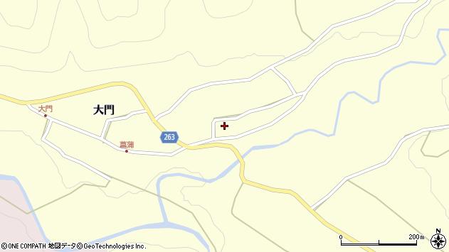 山形県上山市菖蒲57周辺の地図