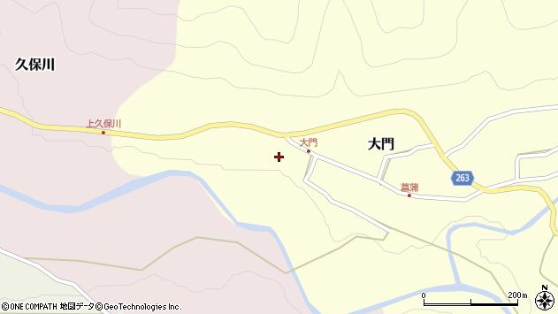山形県上山市大門7周辺の地図