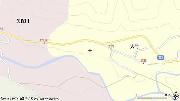 山形県上山市大門3周辺の地図