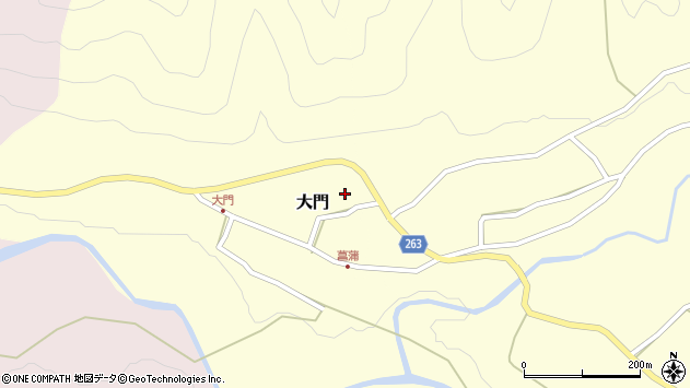 山形県上山市大門19周辺の地図