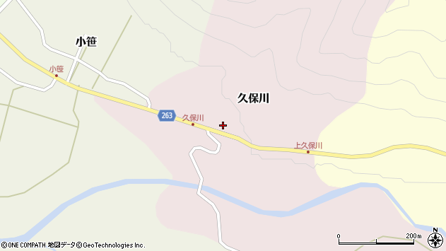 山形県上山市久保川22周辺の地図