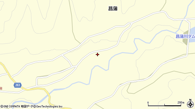 山形県上山市菖蒲133周辺の地図
