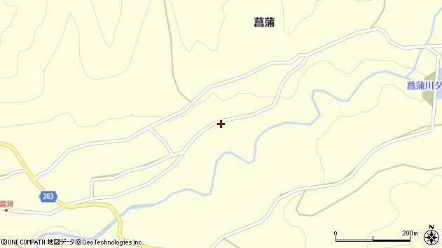 山形県上山市菖蒲128周辺の地図