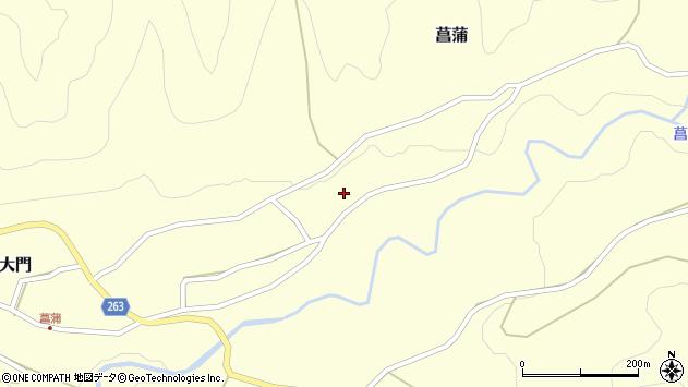 山形県上山市菖蒲115周辺の地図
