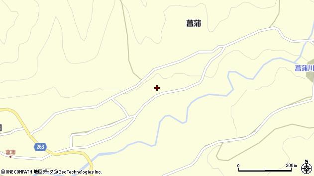 山形県上山市菖蒲125周辺の地図