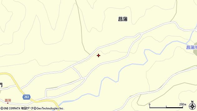 山形県上山市菖蒲289周辺の地図