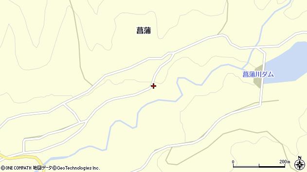 山形県上山市菖蒲108周辺の地図