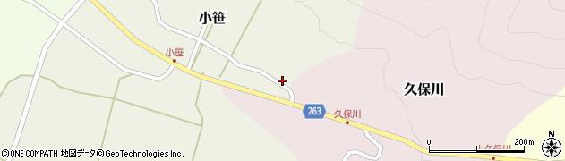 山形県上山市小笹166周辺の地図