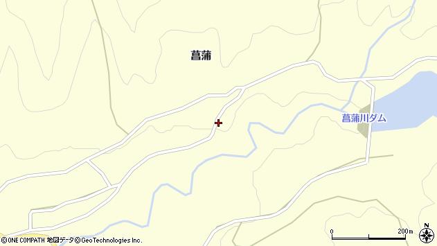 山形県上山市菖蒲404周辺の地図